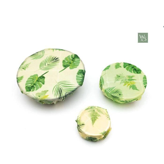 Wild & Stone Food Wraps Beeswax Food Wraps - Botanical Pattern used on bowl
