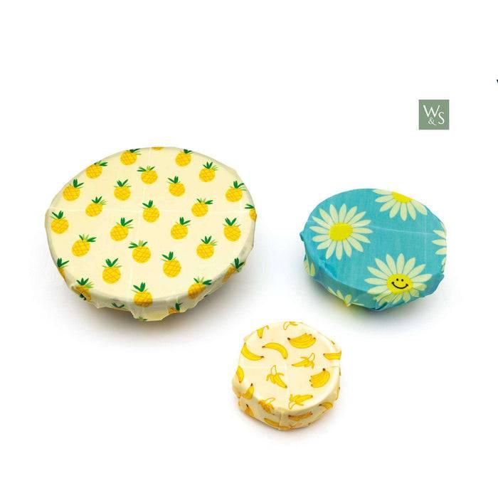 Wild & Stone Food Wraps Beeswax Food Wraps - Fruit Pattern used on bowl
