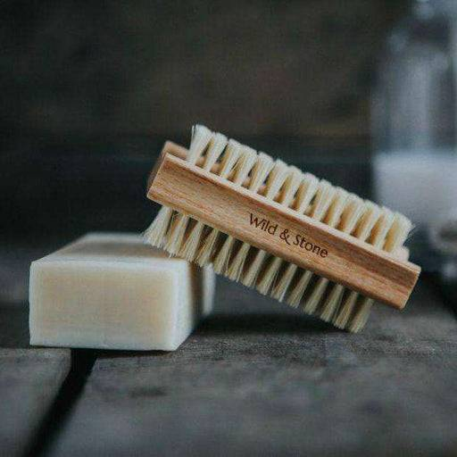 Wild & Stone Nail Brush Nail Brush - Natural Bristle on top of soap