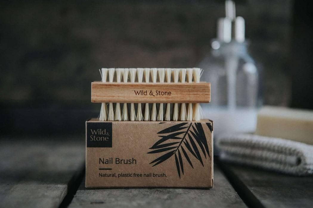Wild & Stone Nail Brush Nail Brush - Natural Bristle on top of packaging