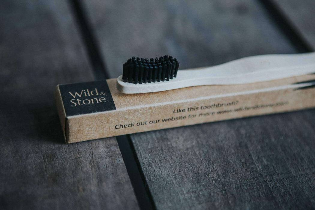 Wild & Stone Toothbrush Adults Bamboo Toothbrush - Medium Firm Bristles on packaging