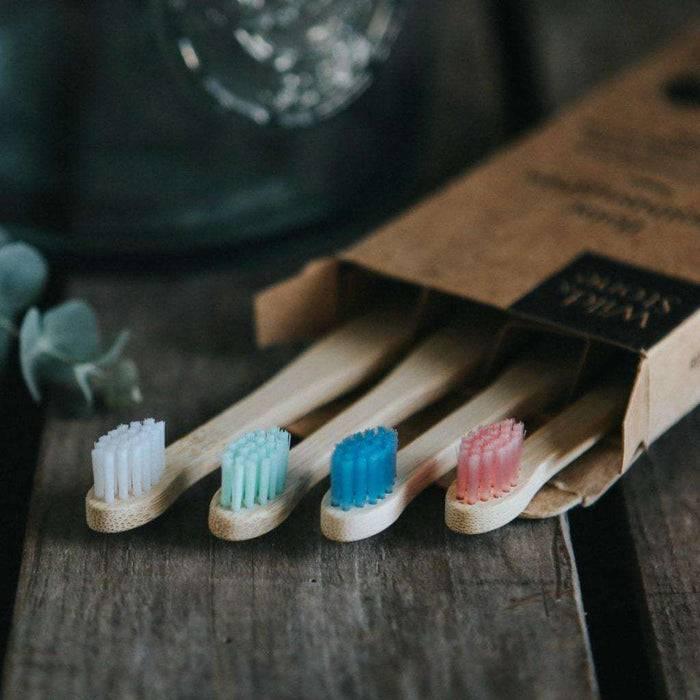 Wild & Stone Toothbrush Baby Extra Soft Bristles Bamboo Toothbrush heads