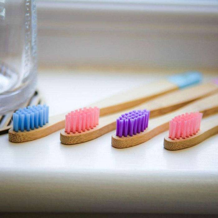 Wild & Stone Toothbrush Children's Bamboo Toothbrush - Soft Bristles - Candy on side
