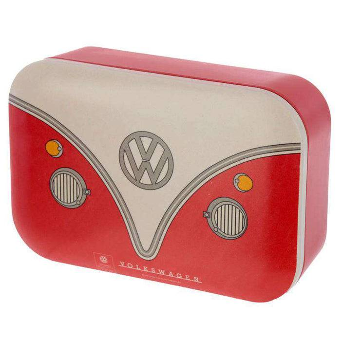 Bamboo Composite Reusable Lunch Box - VW T1 Camper sitting up