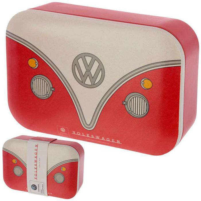 Bamboo Composite Reusable Lunch Box - VW T1 Camper with and without label