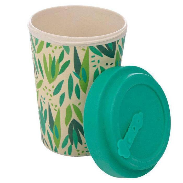 Bamboo Composite Reusable Travel Mug - Willow lid off