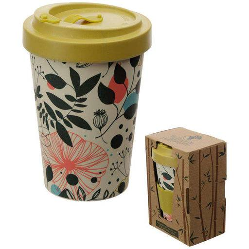 Bamboo Composite Travel Mug - Wisewood Botanical out of packaging