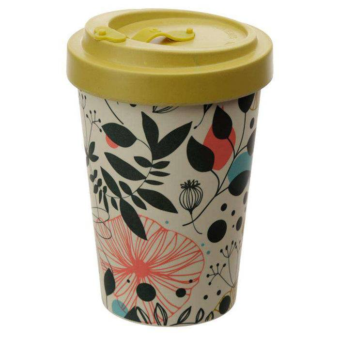 Bamboo Composite Travel Mug - Wisewood Botanical front view