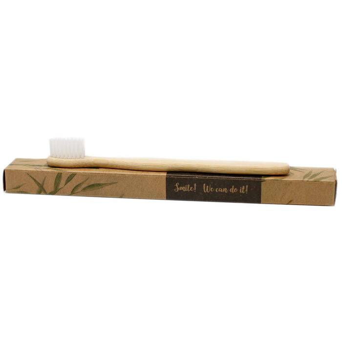 Bamboo Toothbrush  - Family Pack toothbrush on packaging