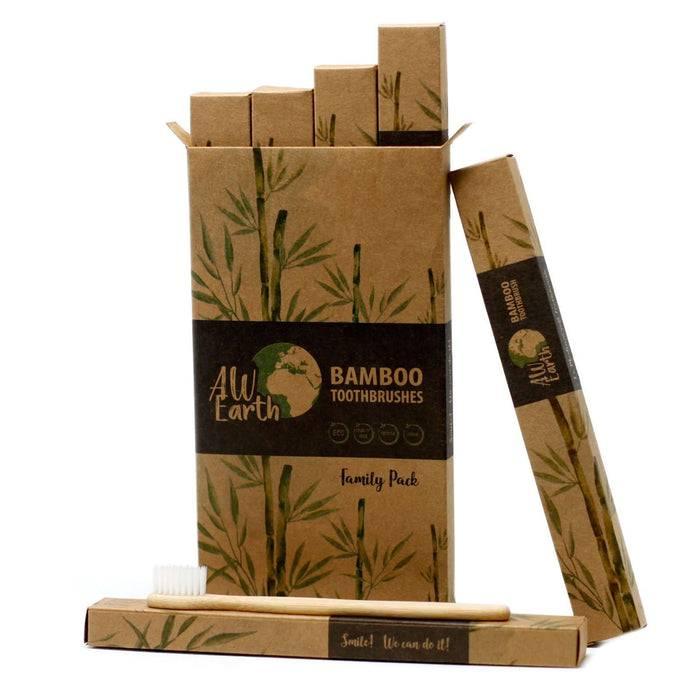 Zero Zen Bamboo Toothbrush  - Family Pack smaller packaging inside shown