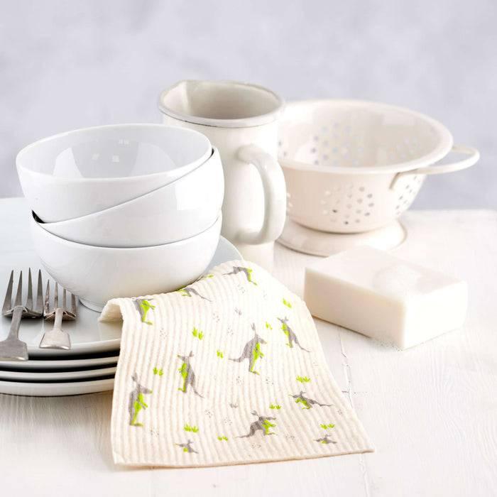 Cleaning Cloth Kangaroo and Koala Cleaning Cloths - Biodegradable Sponge  light cloth