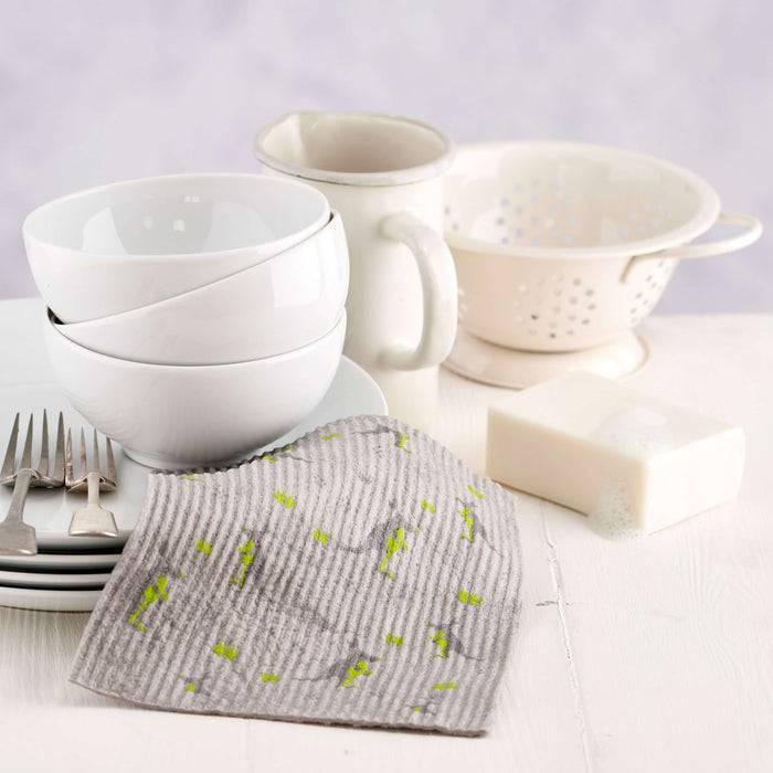 Cleaning Cloth Kangaroo and Koala Cleaning Cloths - Biodegradable Sponge grey cloth