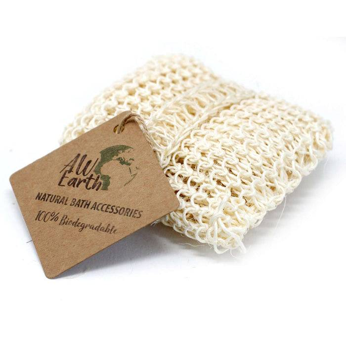 Zero Zen Cushion Sisal Sponge and Scrub SisalS-04 resting down with tag on