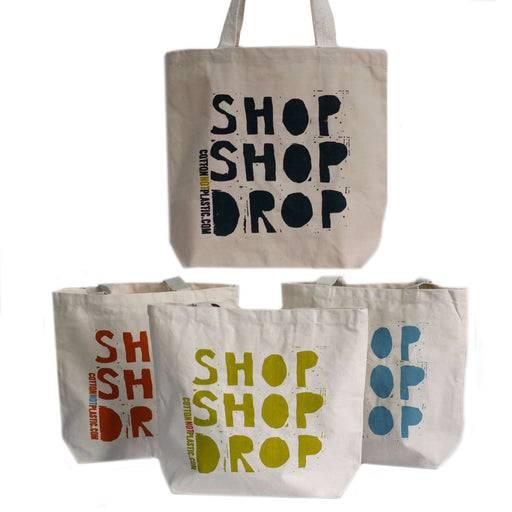 Zero Zen Eco bags Black Eco Cotton Bags - Shop Shop Drop 4 colour designs