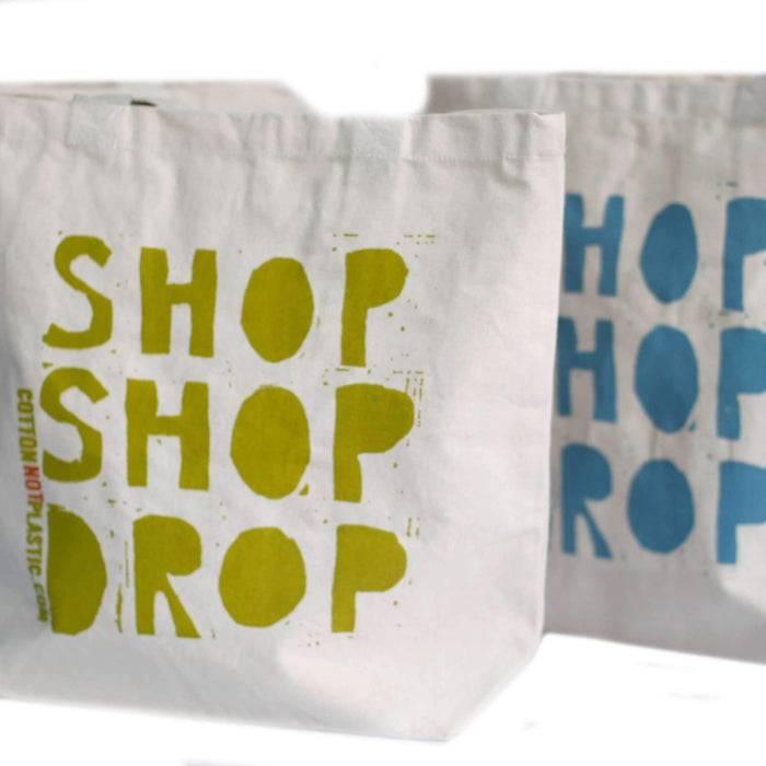 Zero Zen Eco bags Eco Cotton Bags - Shop Shop Drop close up of design