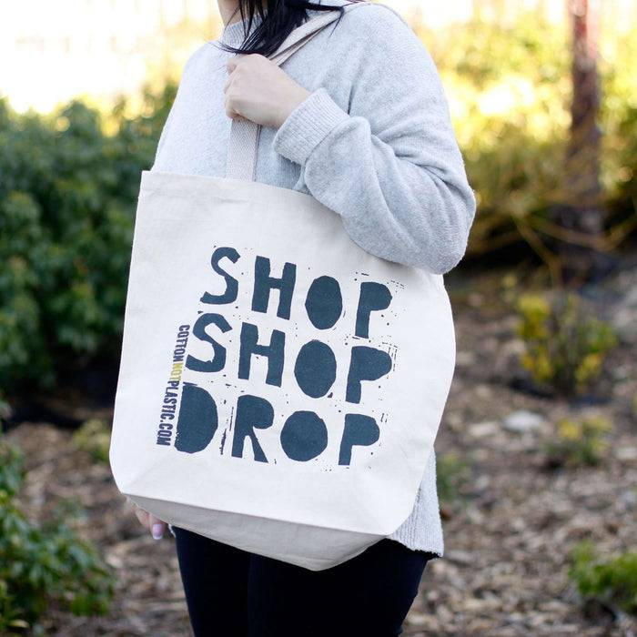 Zero Zen Eco bags Eco Cotton Bags - Shop Shop Drop women holding outside