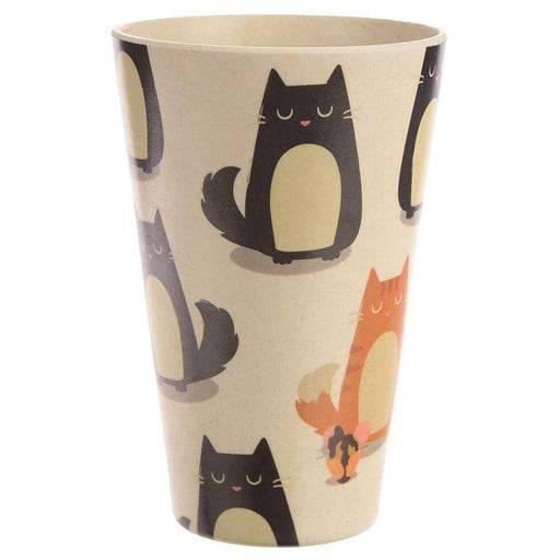 Zero Zen Reusable Bamboo Composite Cup - Feline Fine Cat BAMB18 front view