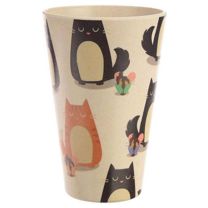 Zero Zen Reusable Bamboo Composite Cup - Feline Fine Cat BAMB18 back view