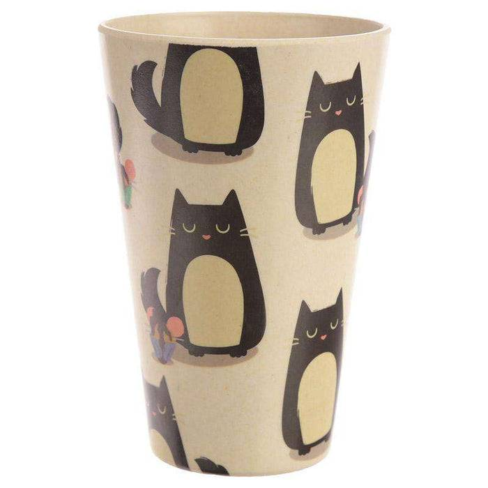 Zero Zen Reusable Bamboo Composite Cup - Feline Fine Cat BAMB18 left view