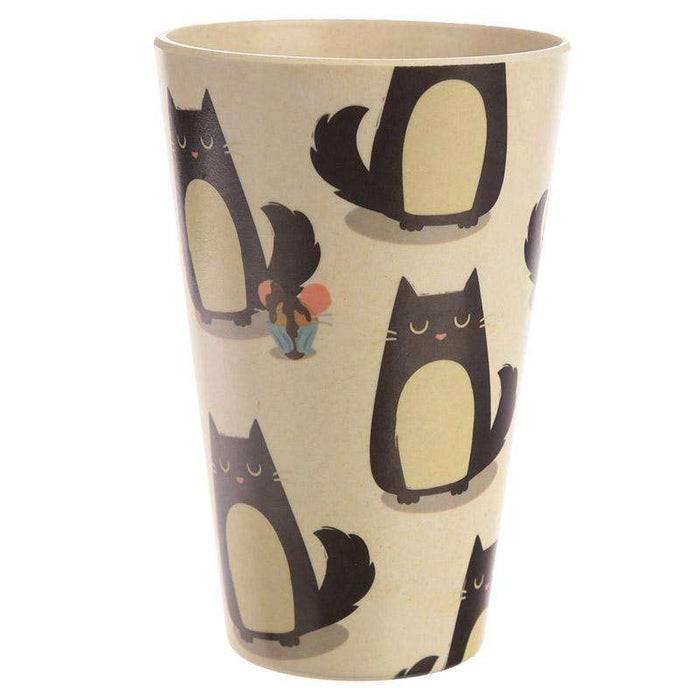Zero Zen Reusable Bamboo Composite Cup - Feline Fine Cat BAMB18 right side view