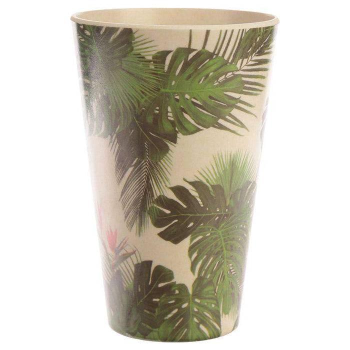 Zero Zen Reusable Bamboo Composite Cup -Tropical Design BAMB22 front view