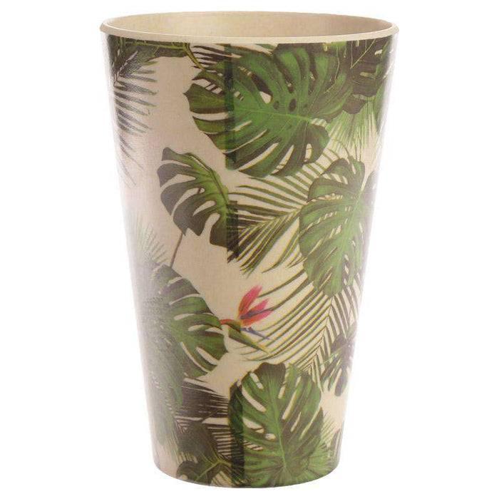 Zero Zen Reusable Bamboo Composite Cup -Tropical Design BAMB22 back view