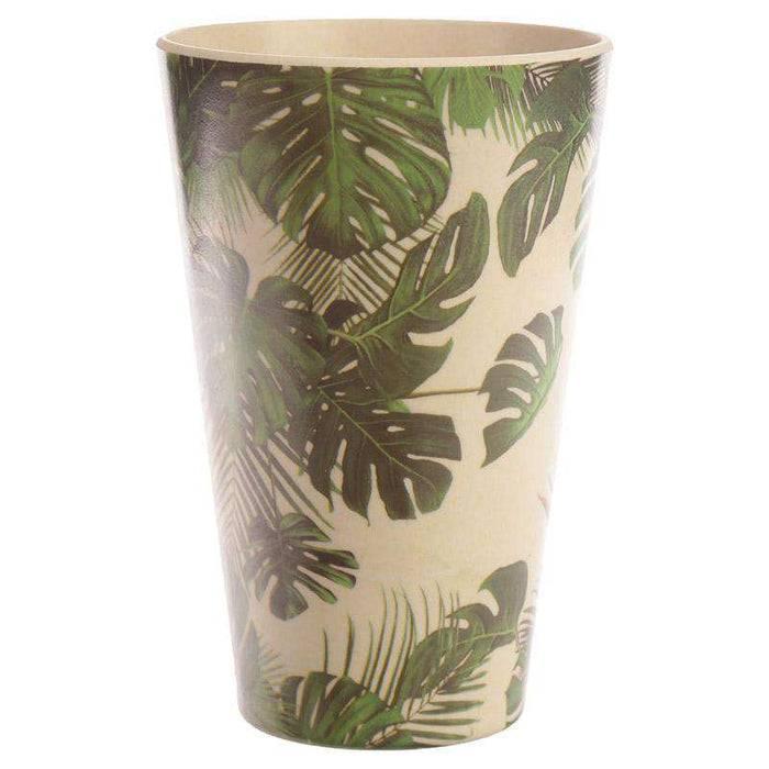 Zero Zen Reusable Bamboo Composite Cup -Tropical Design BAMB22 side view