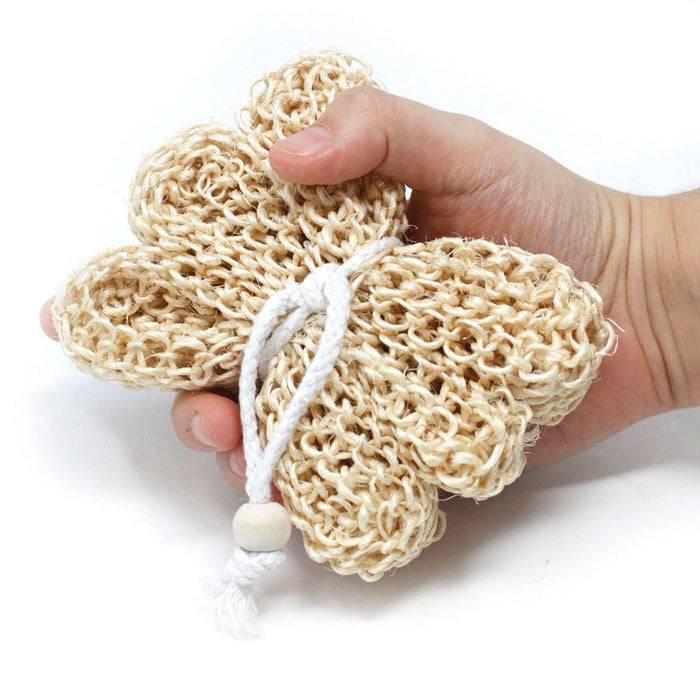 Zero Zen Sisal Sponge and Scrub hand holding sponge