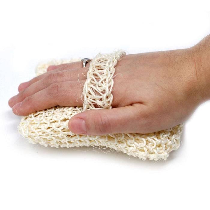 Zero Zen Sisal Sponge and Scrub hand using scrub