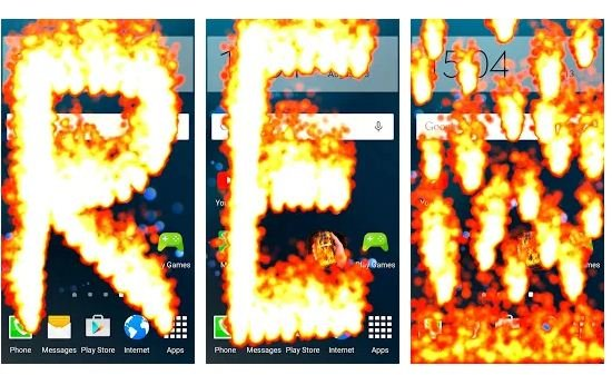 Best Fire on screen app Android 2021
