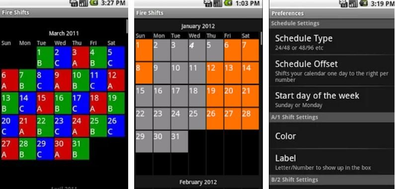 Best Work Shift Calendar Apps Android/ iphone 2021