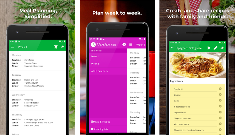 Best Meal Planning Apps Android/iPhone 2021