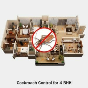 Cockroach Treatment Service for 4 BHK