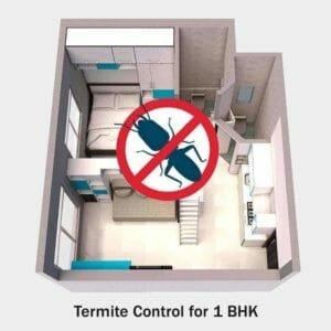 termite control servicefor 1 BHK