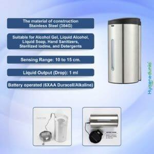Ossom SS Touchless Soap Dispenser 700ml - SDS05