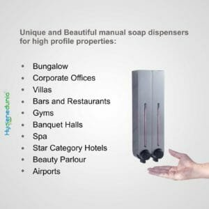 RICH Soap Dispenser 500 Duo Grey Twin Dispensers Luxury Quality