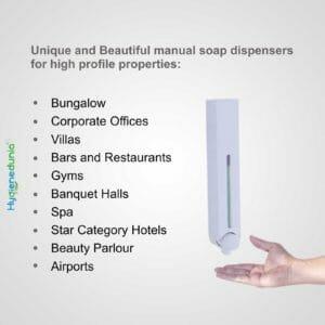 RICH Soap Dispenser 500ml White Luxury Quality