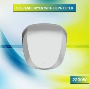 Ossom SS Hand Dryer with Hepa Filter 2200w - SHD02
