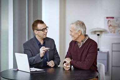 hearing aid evaluation and consultation